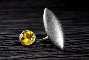Citrin / 925 Silber